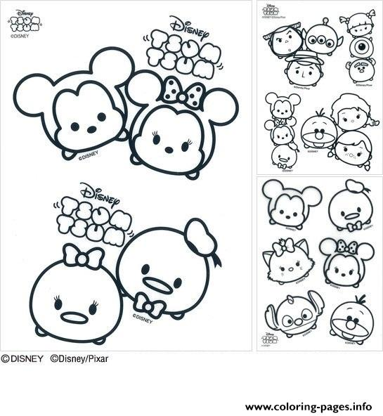 Disney Tsum Coloring Pages