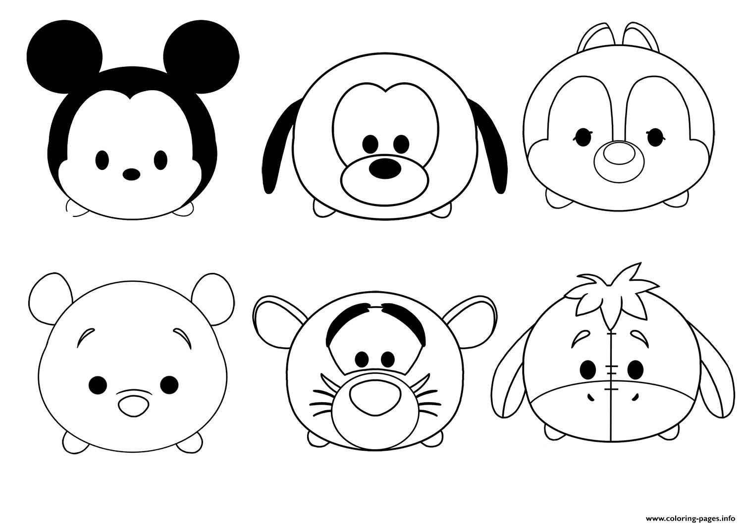Colorear Tsum Tsum Cenicienta Tsum Tsum Dibujo Para: Tsum Tsum Disney Colouring Pages Coloring Pages Printable