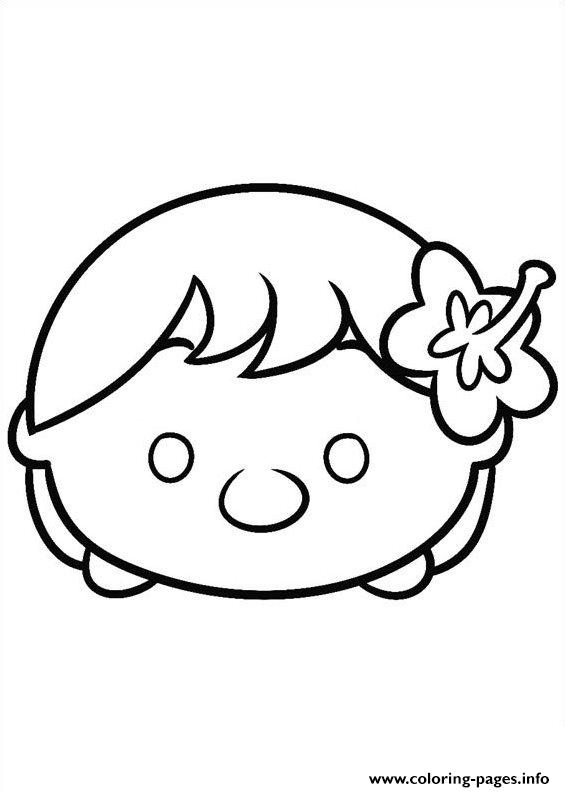 Tsum Tsum Ariel Baby Coloring Pages Printable