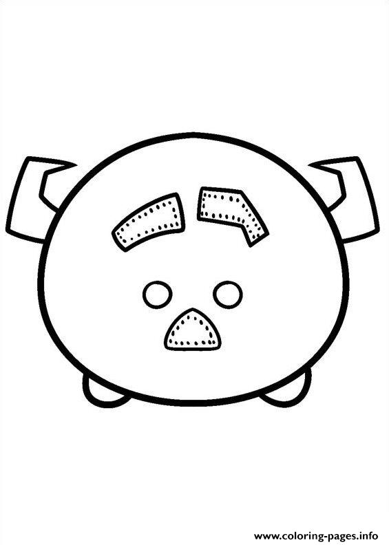 Tsum Tsum Pig Disney coloring pages