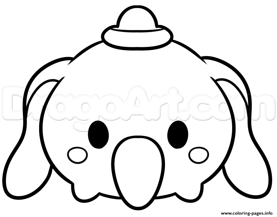 Tsum Tsum Dumbo Disney coloring pages
