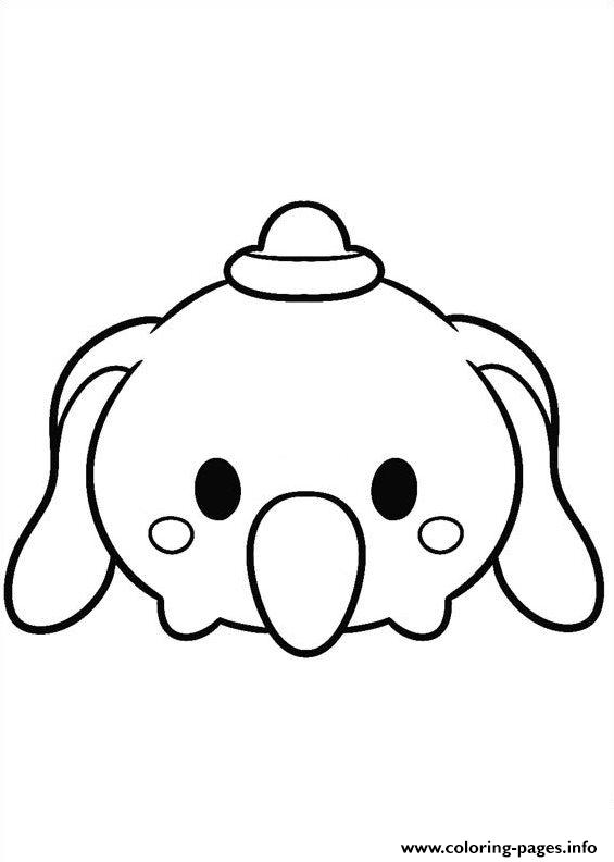 Tsum Tsum Disney Dumbo coloring pages