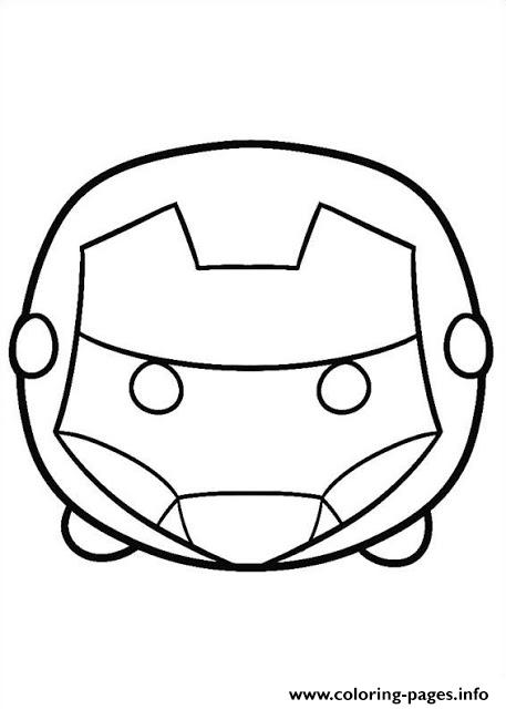 tsum tsum iron man coloring pages - Iron Man Coloring Book