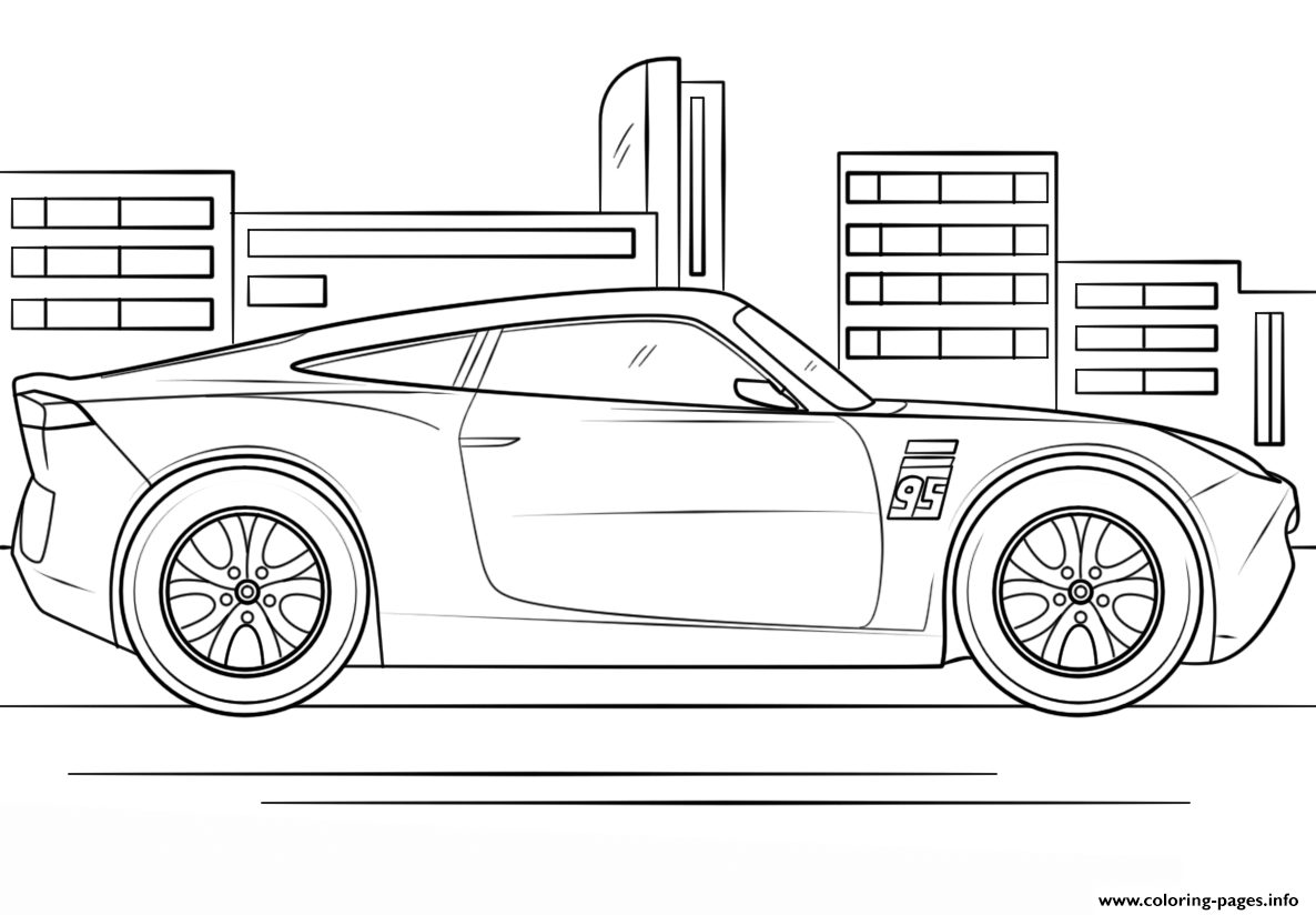 Ausmalbilder Cars 3 : Mack From Cars 3 Coloring Page Free Cars 3 Coloring Lightning