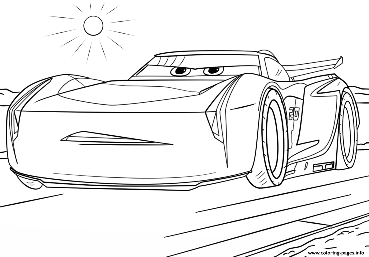 jackson storm from cars 3 disney coloring pages printable