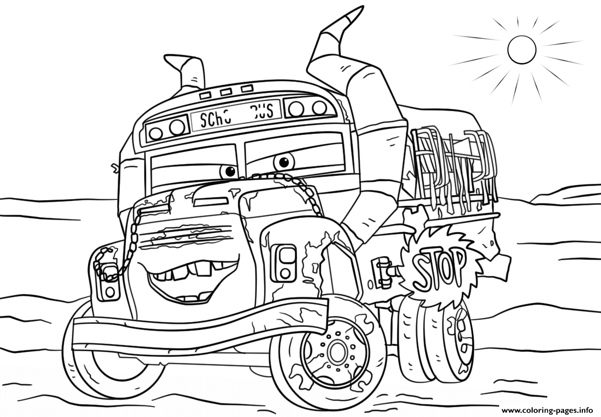 miss fritter from cars 3 disney coloring pages - Disney Coloring Page
