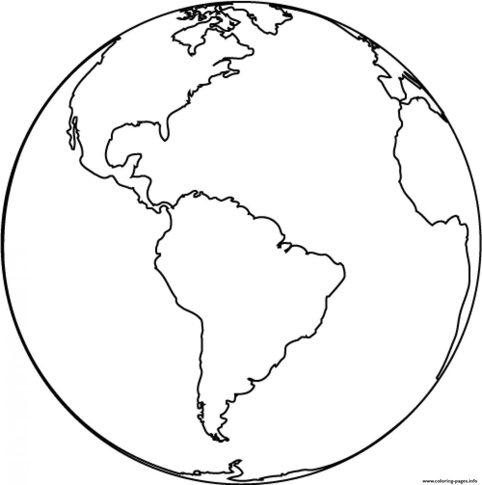 Earth America Side coloring pages