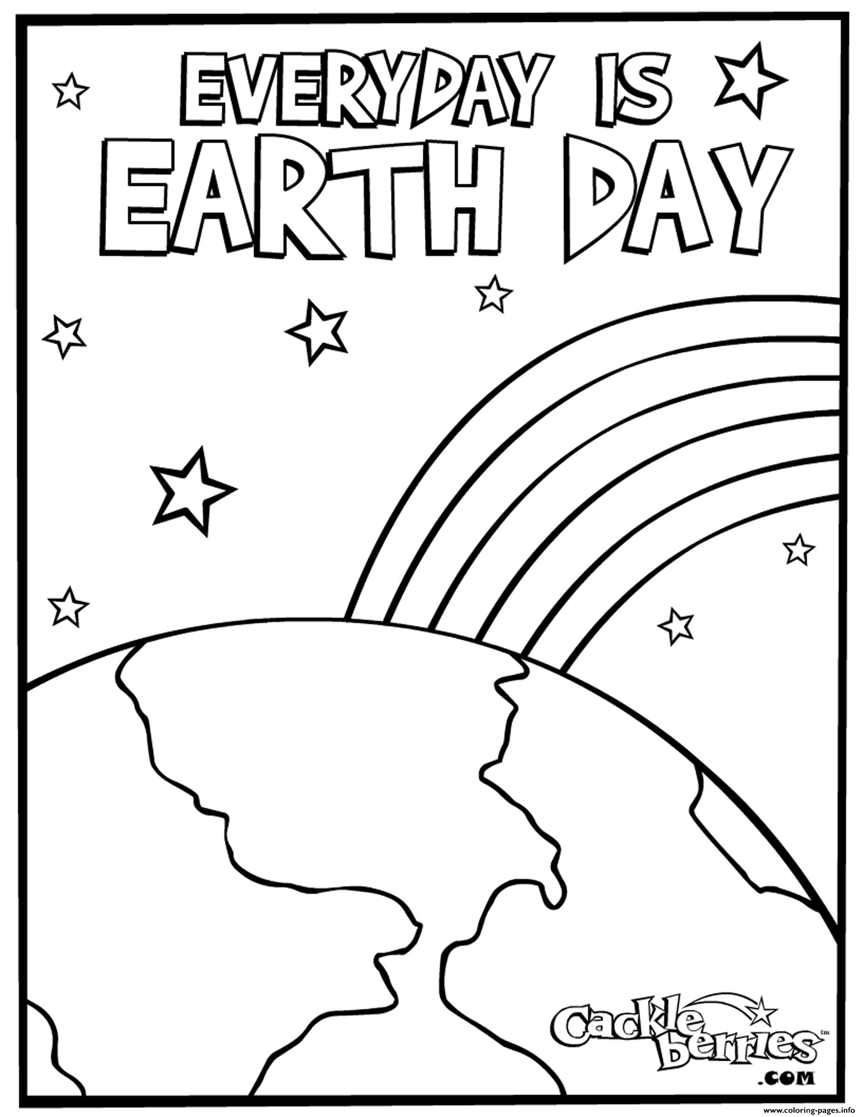 Everyday Is Earth Day coloring pages