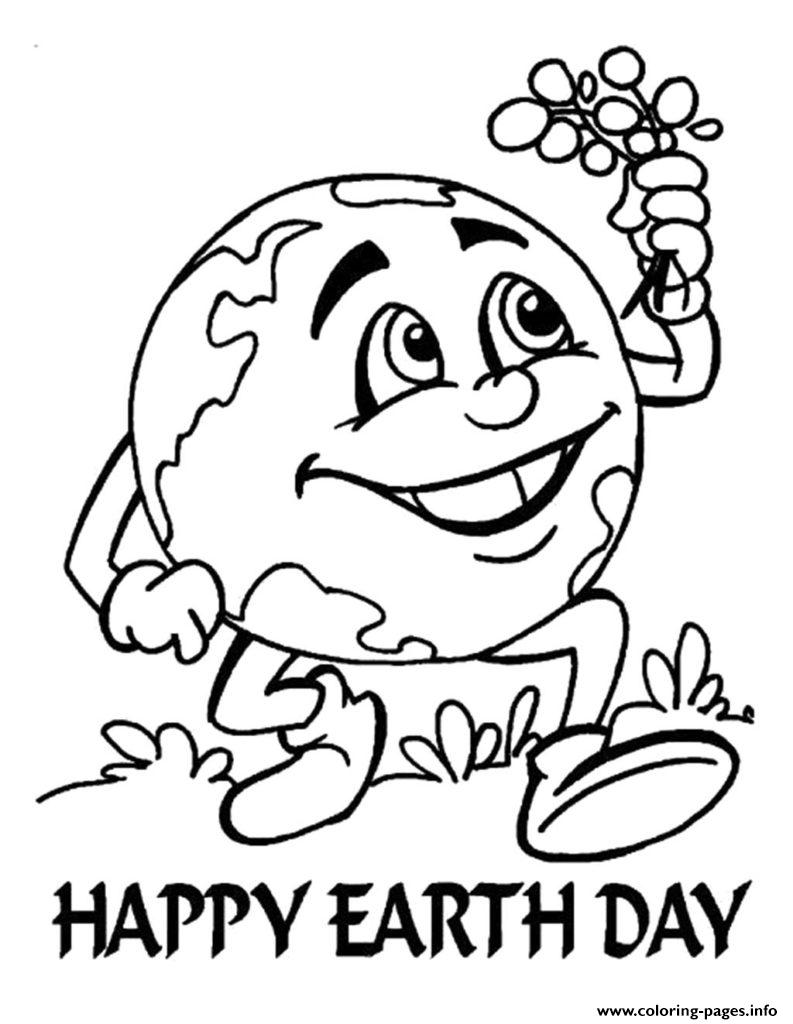 Earth Day Happy Kids coloring pages