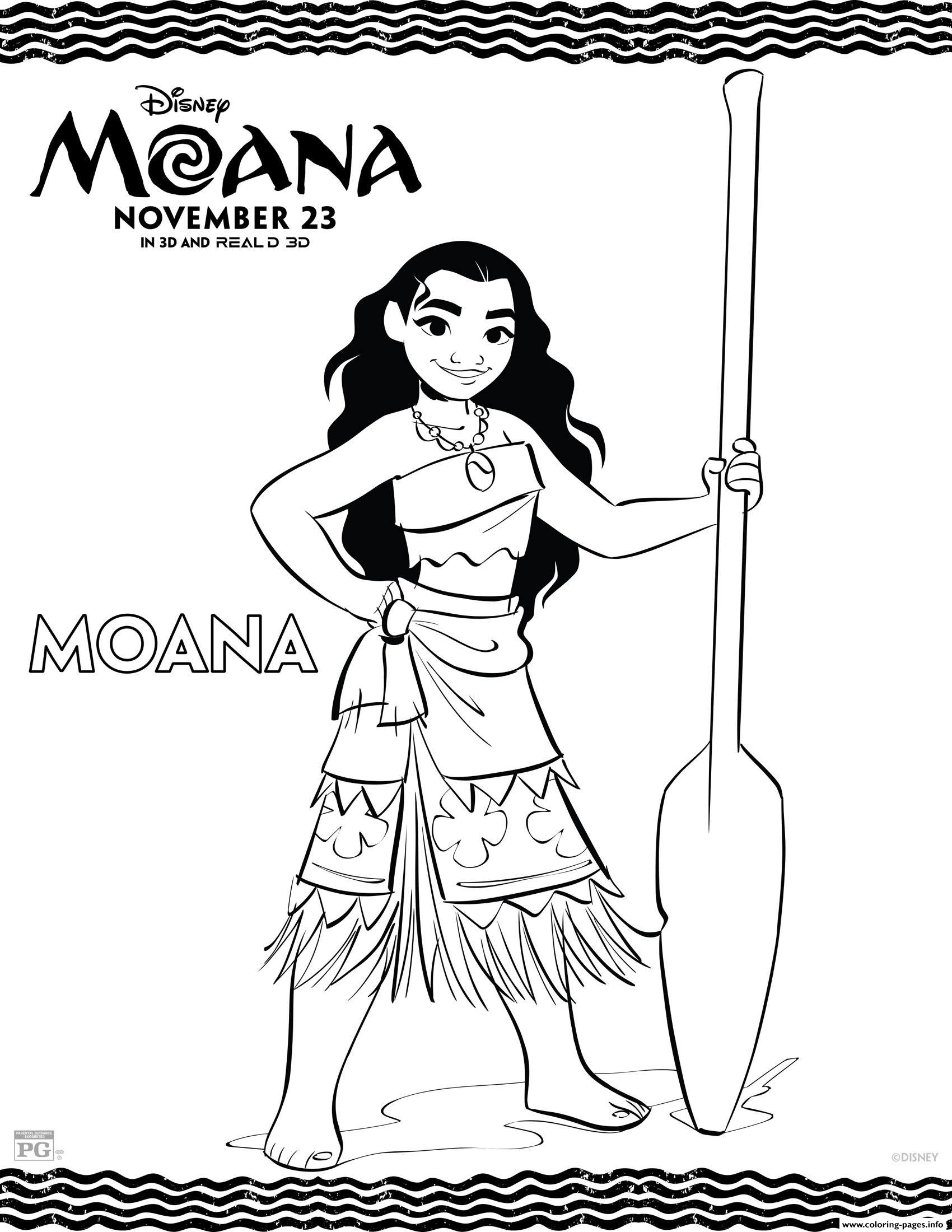 Disneys Moana Princess coloring pages