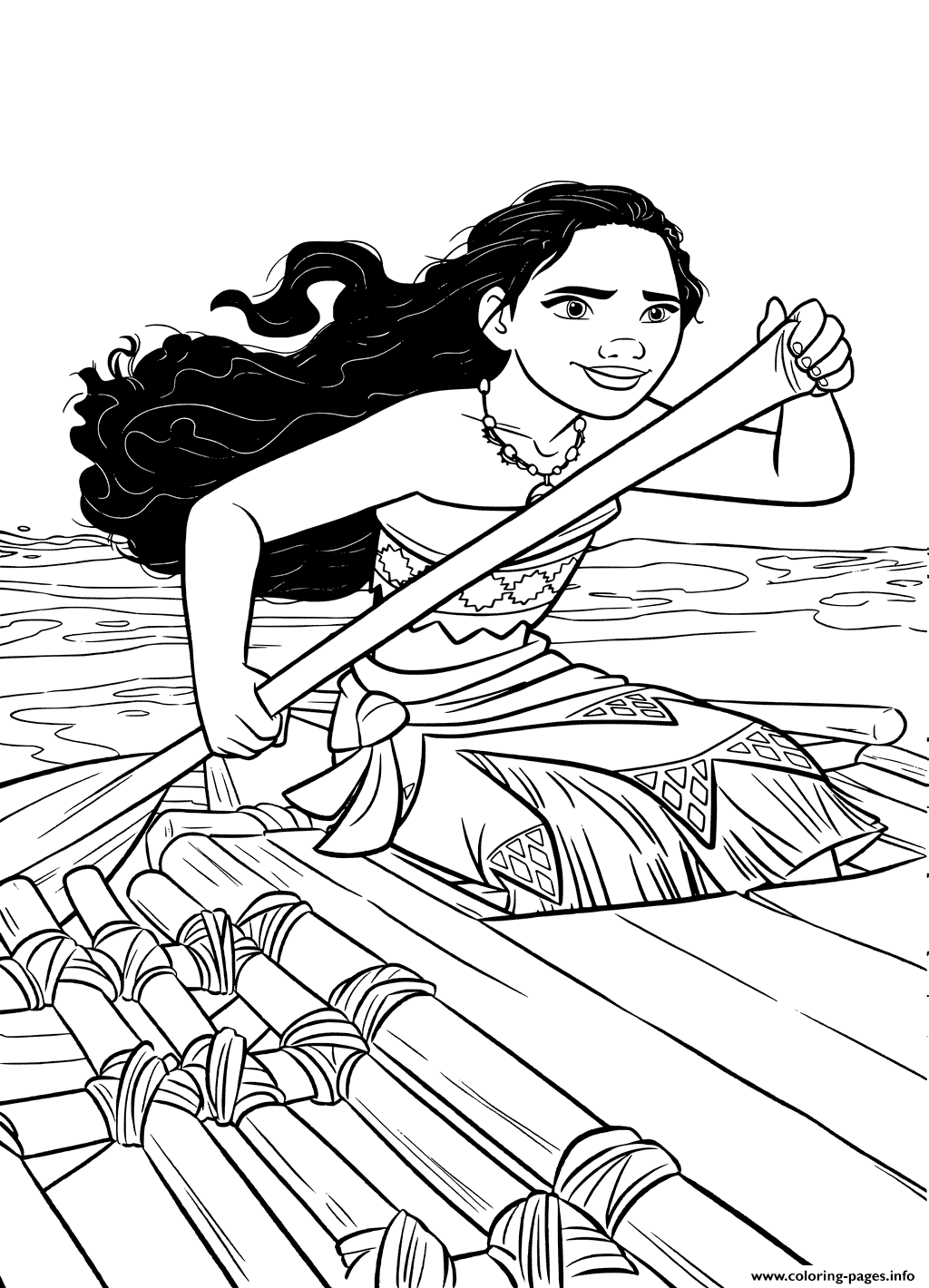 Moana On A Little Ship coloring pages