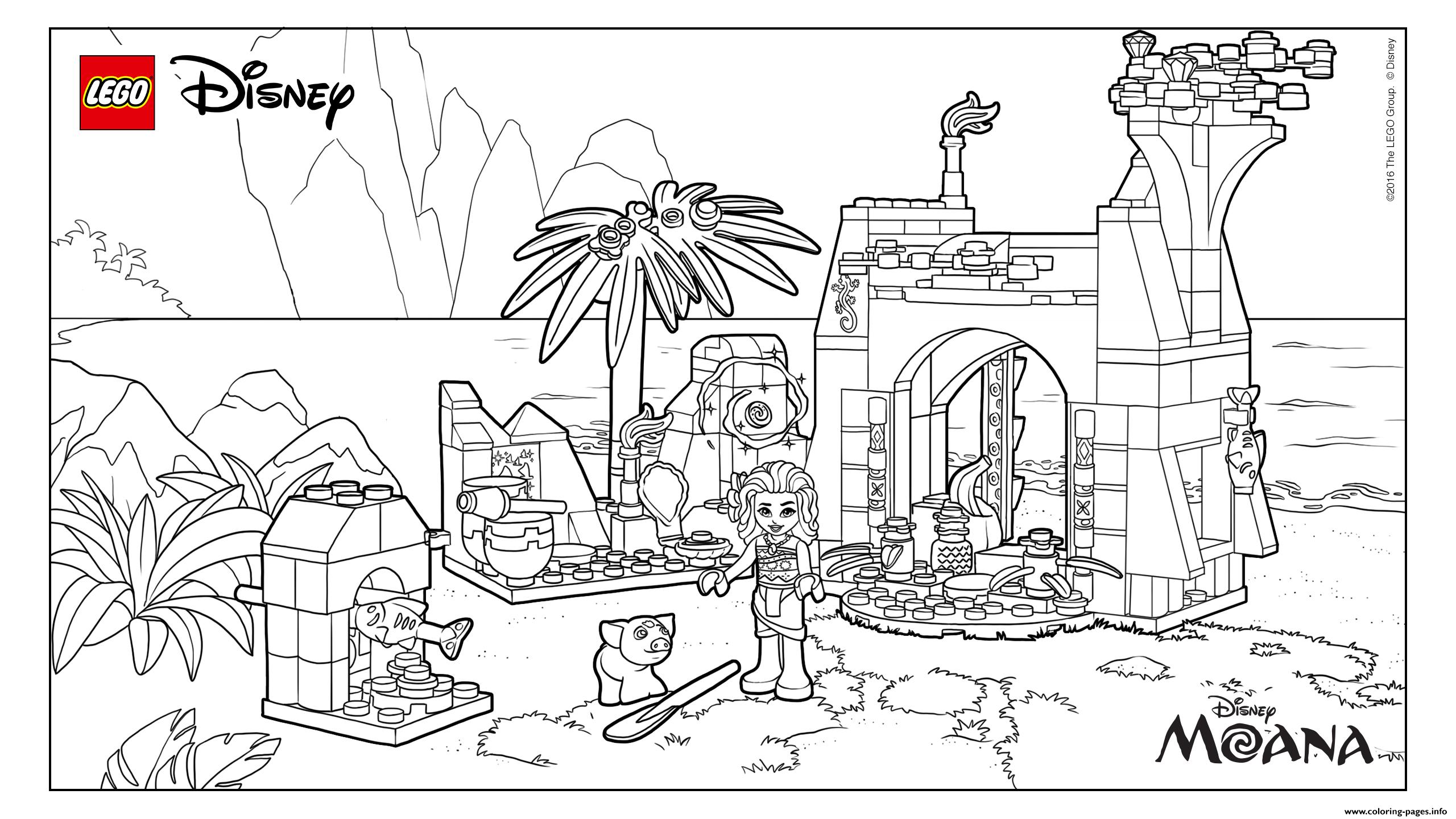 LEGO Disney Moana Island coloring pages