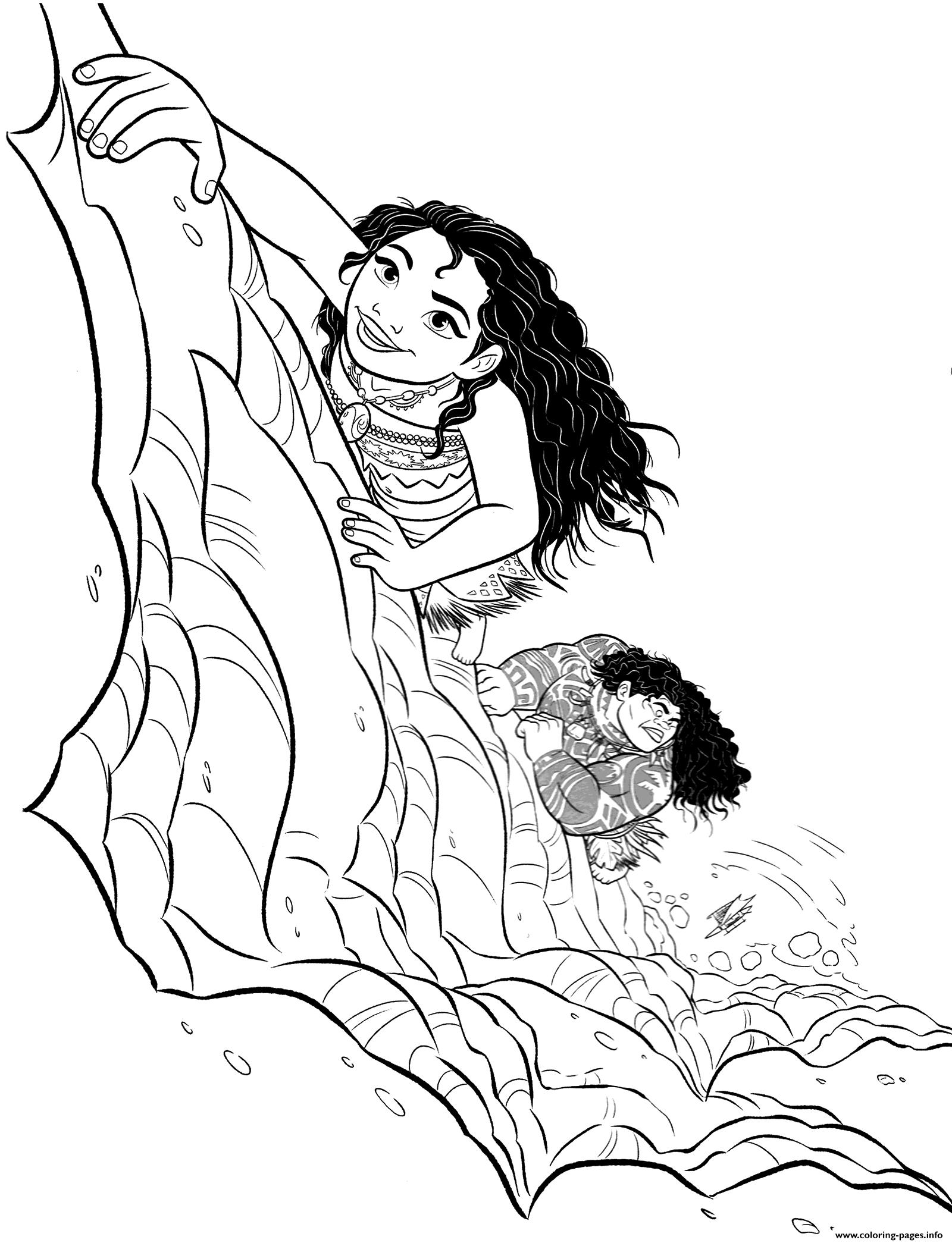 print moana coloring pages - moana and maui coloring pages printable