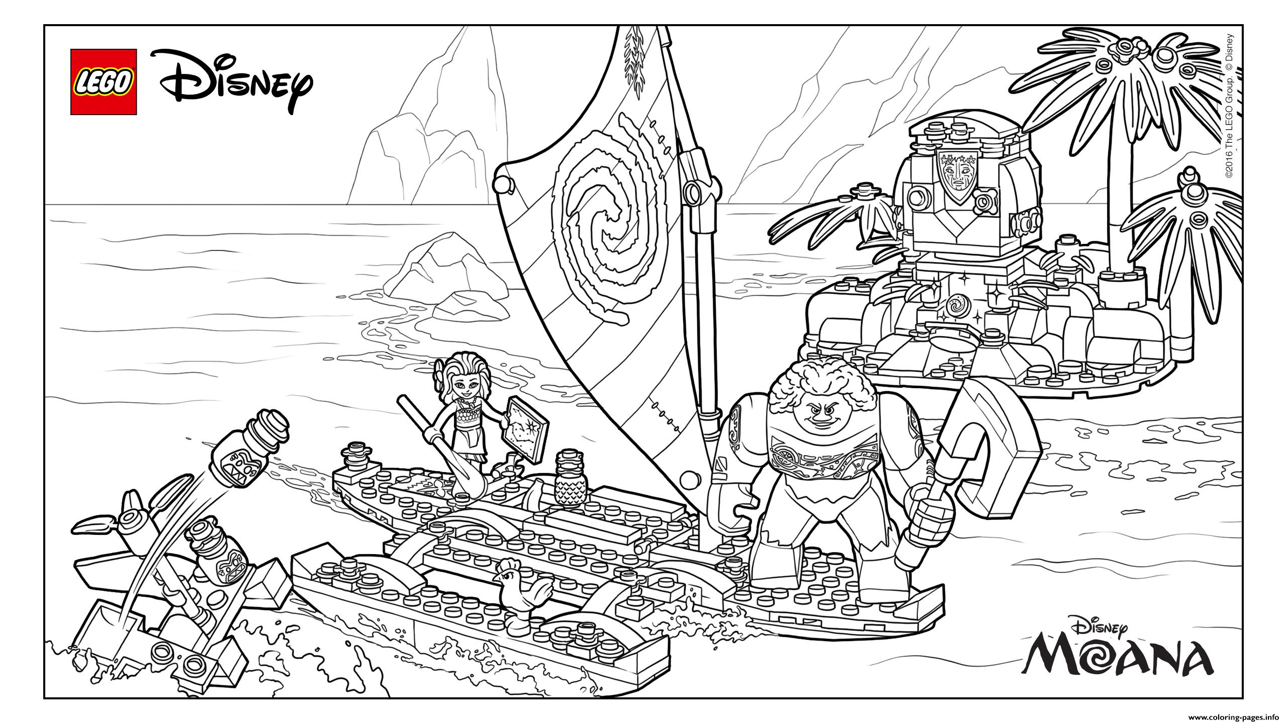 LEGO Moanas Ocean Adventure Coloring Pages Printable