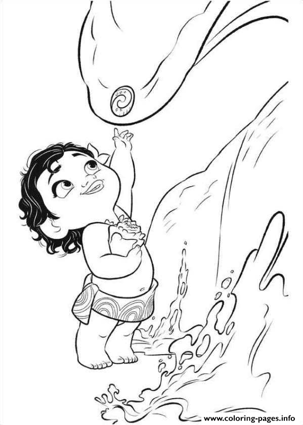 Little Moana Disney coloring pages