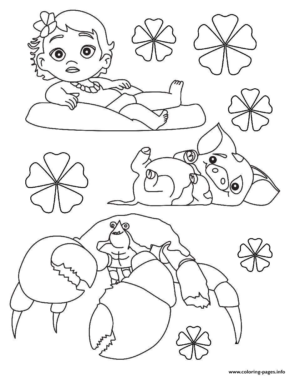 Moana Baby Disney Coloring Pages Print Download 188 Prints