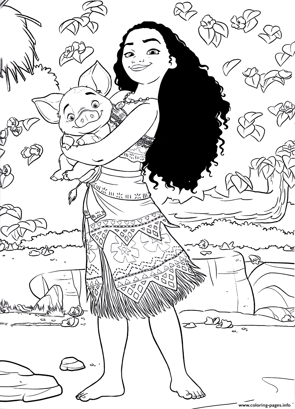 Winx mermaid coloring pages to print and download for free - Princess Moana Disney Coloring Pages Printable