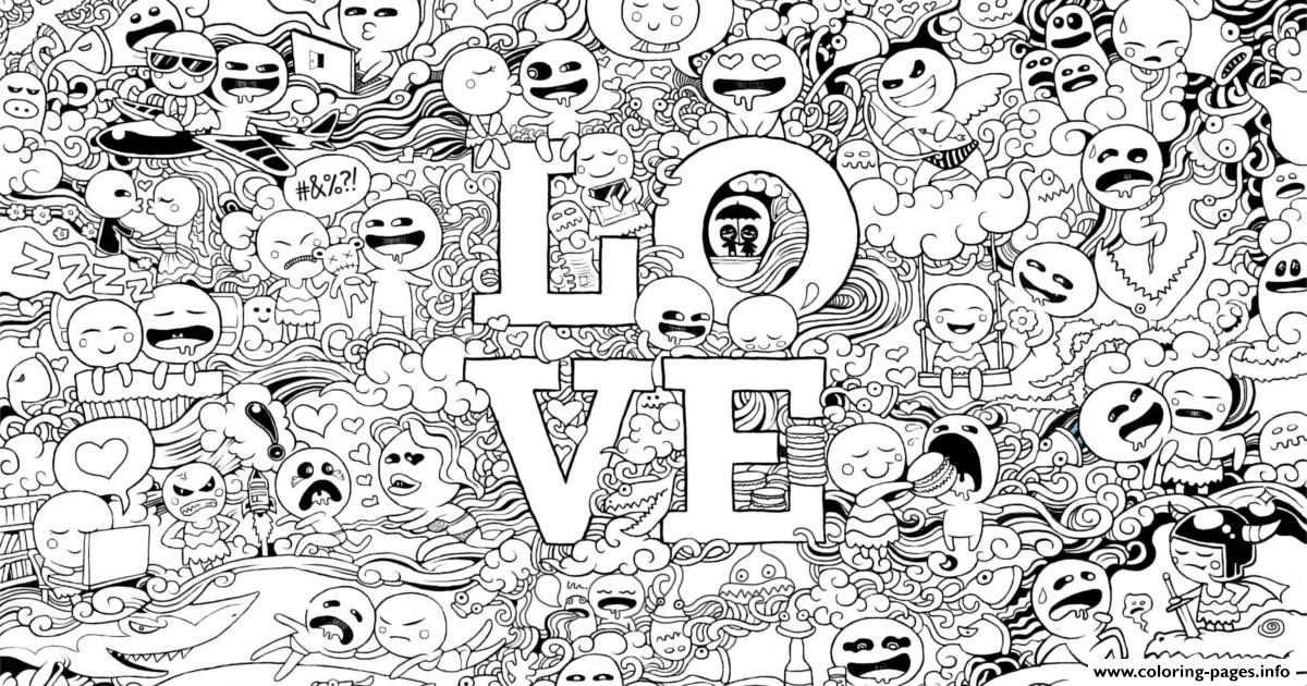 Hard Adult Love Manga Coloring Pages Printable
