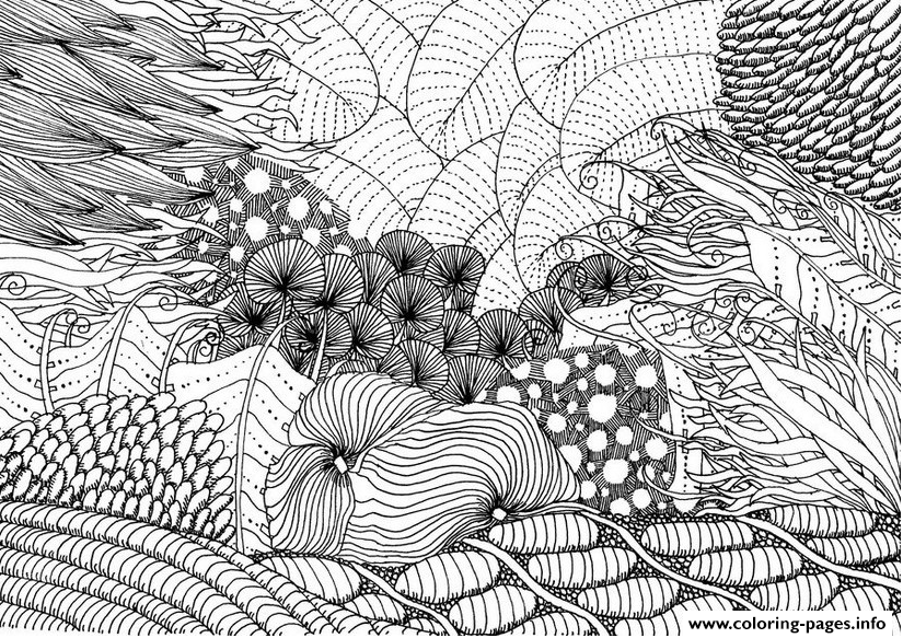 Intricate Ocean Adult Hard coloring pages