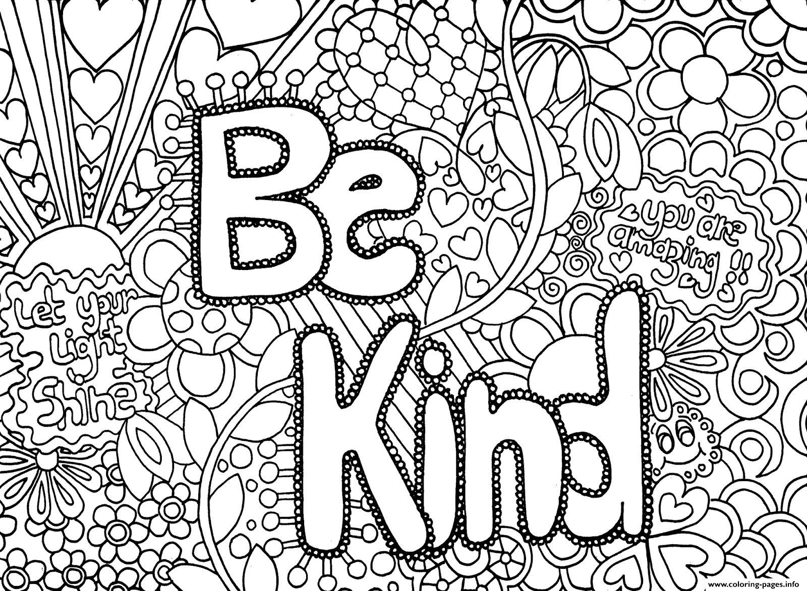 Difficult Advanced Hard Adult Be King Message Coloring Pages