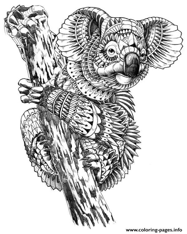 Hard Animal Difficult Adult Owl 3d Coloring Pages