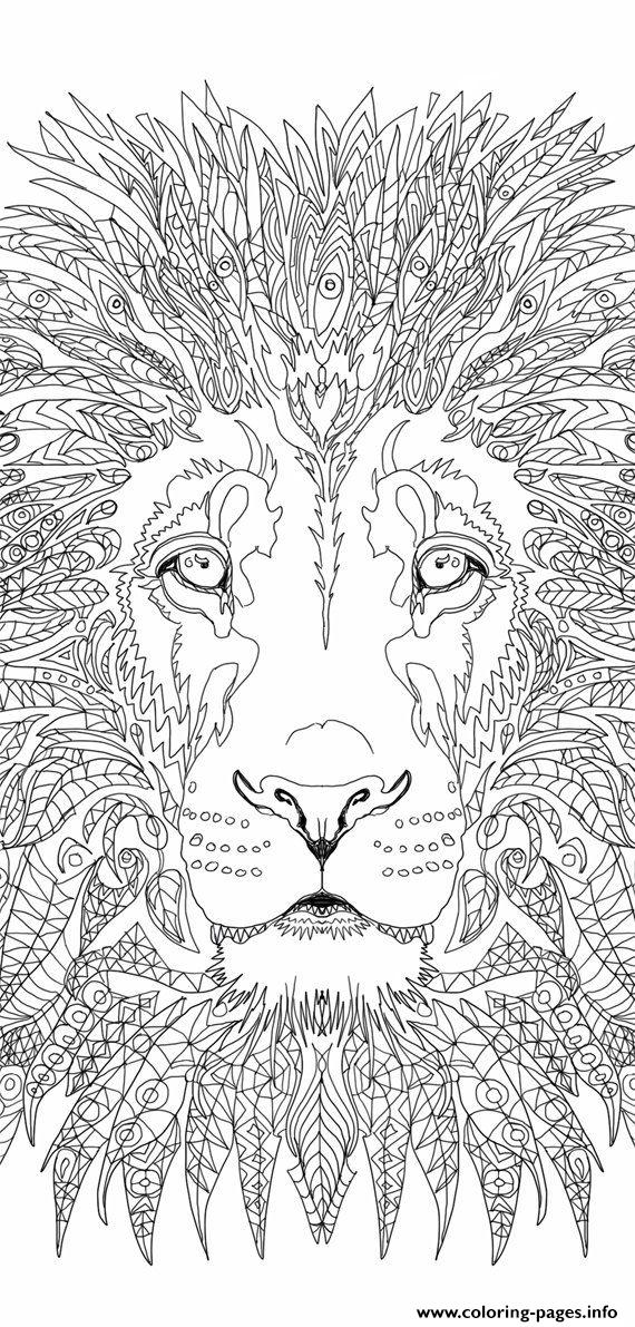 Advanced Lion Adult coloring pages