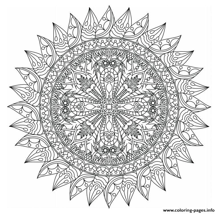 Advanced Mandala Marvelous Adults coloring pages