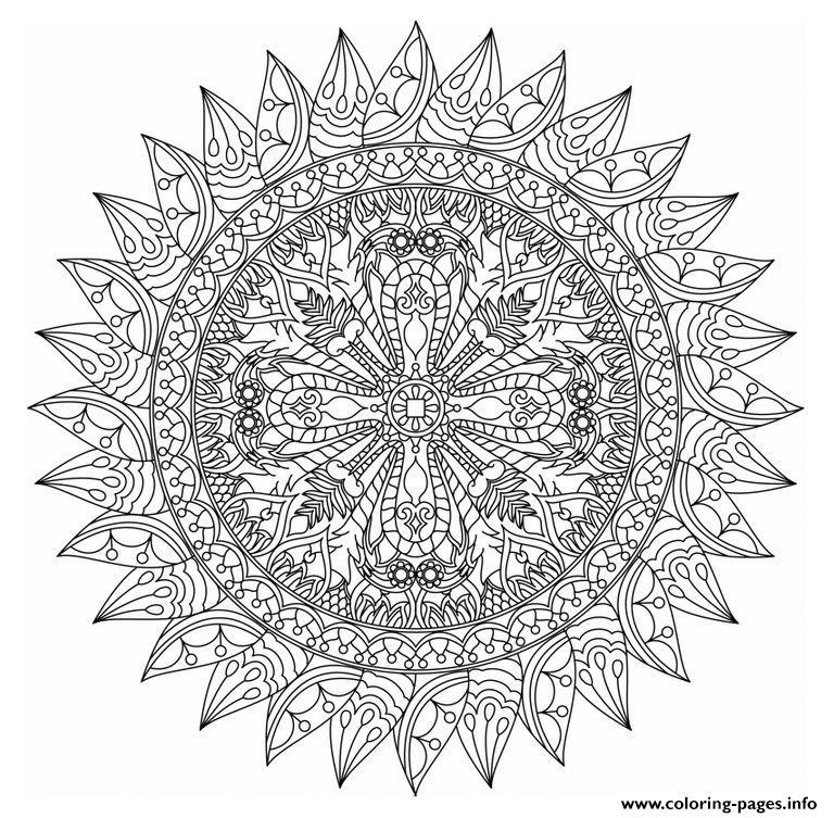 advanced mandala coloring pages printable - photo#13
