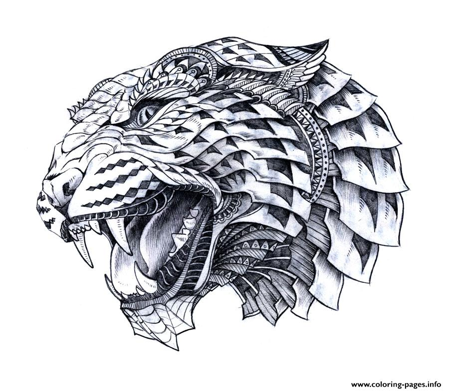 Hard Animal Difficult Advanced Leopart Tattoo Sketches