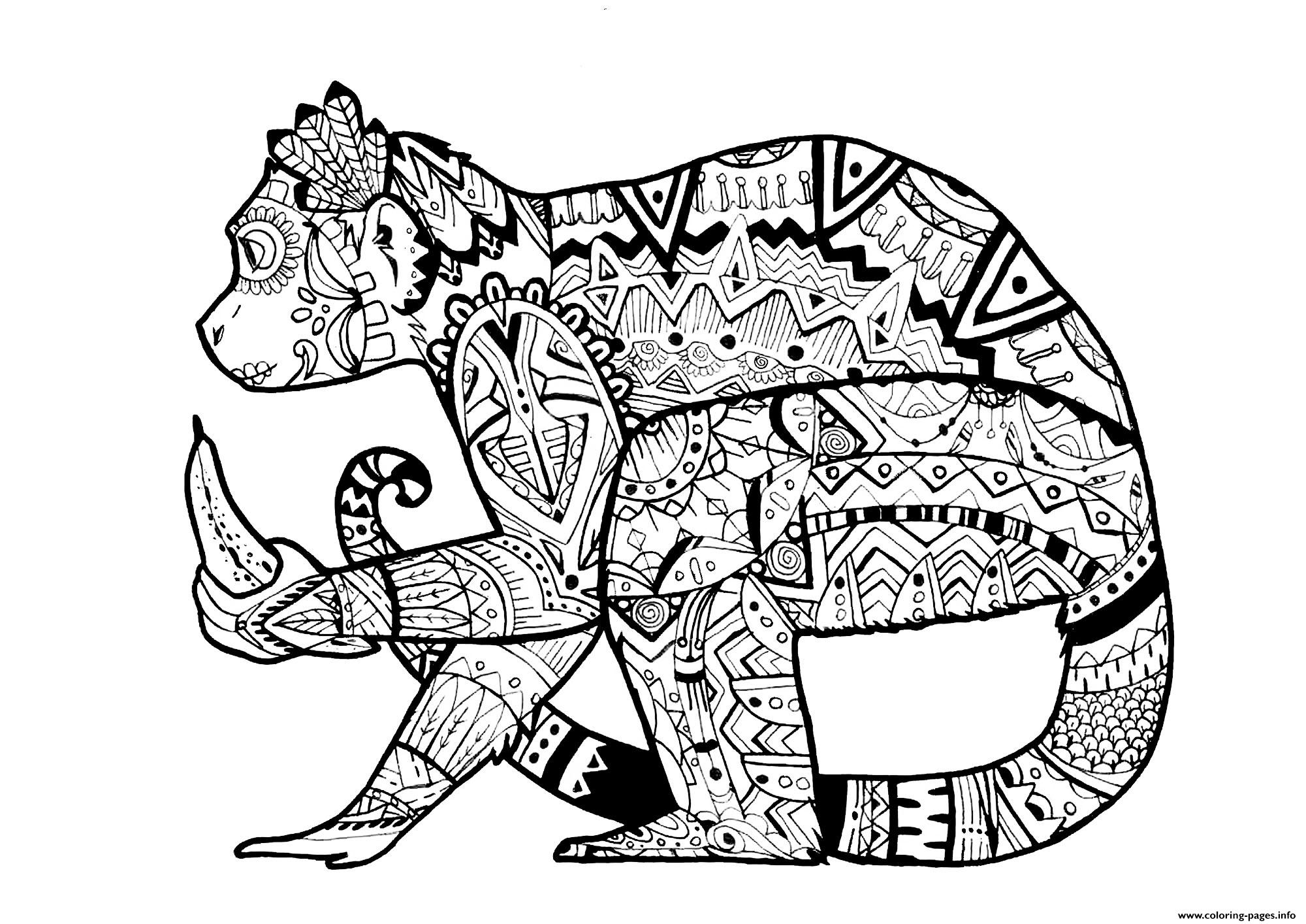 Advanced Animal Monkey By Pauline Coloring Pages Printable