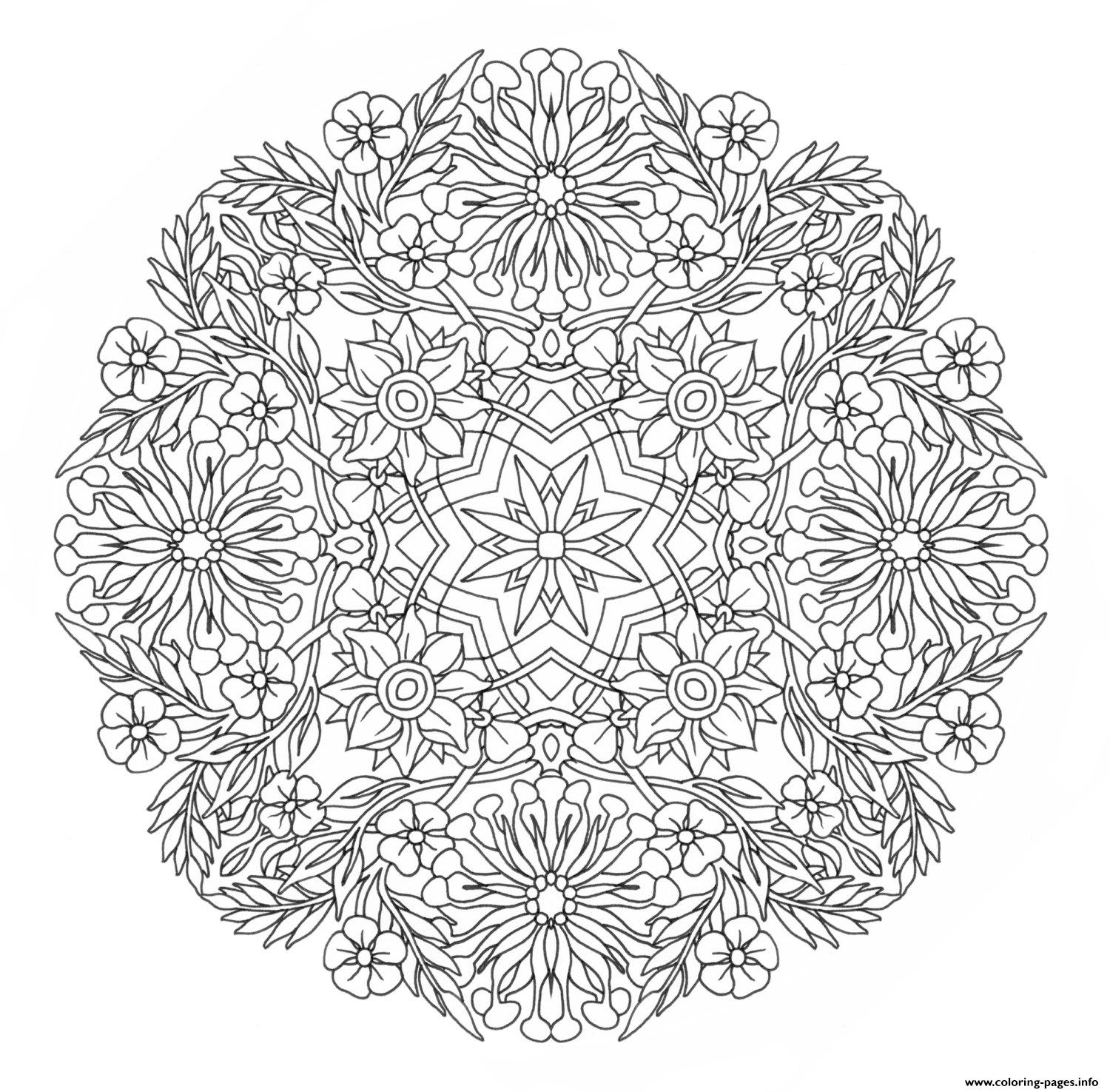 advanced mandala complex creative design coloring pages - Free Printable Advanced Coloring Pages