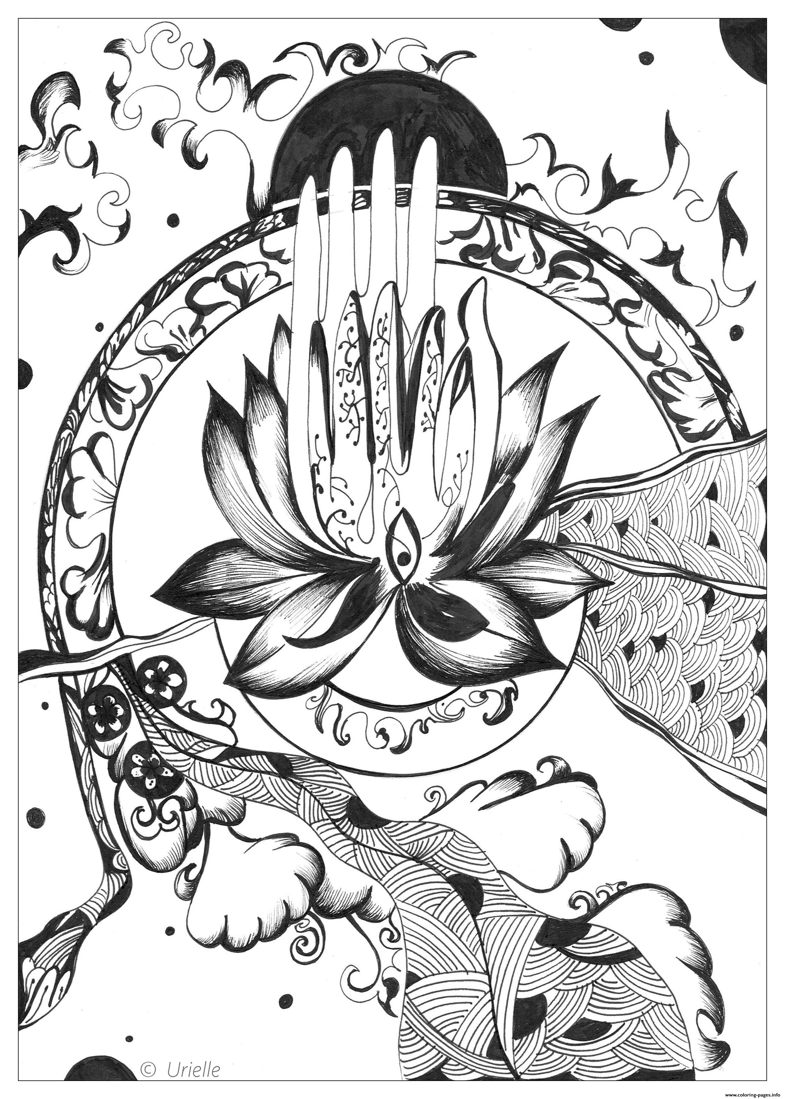 Advanced Abstract Peace Adult coloring pages