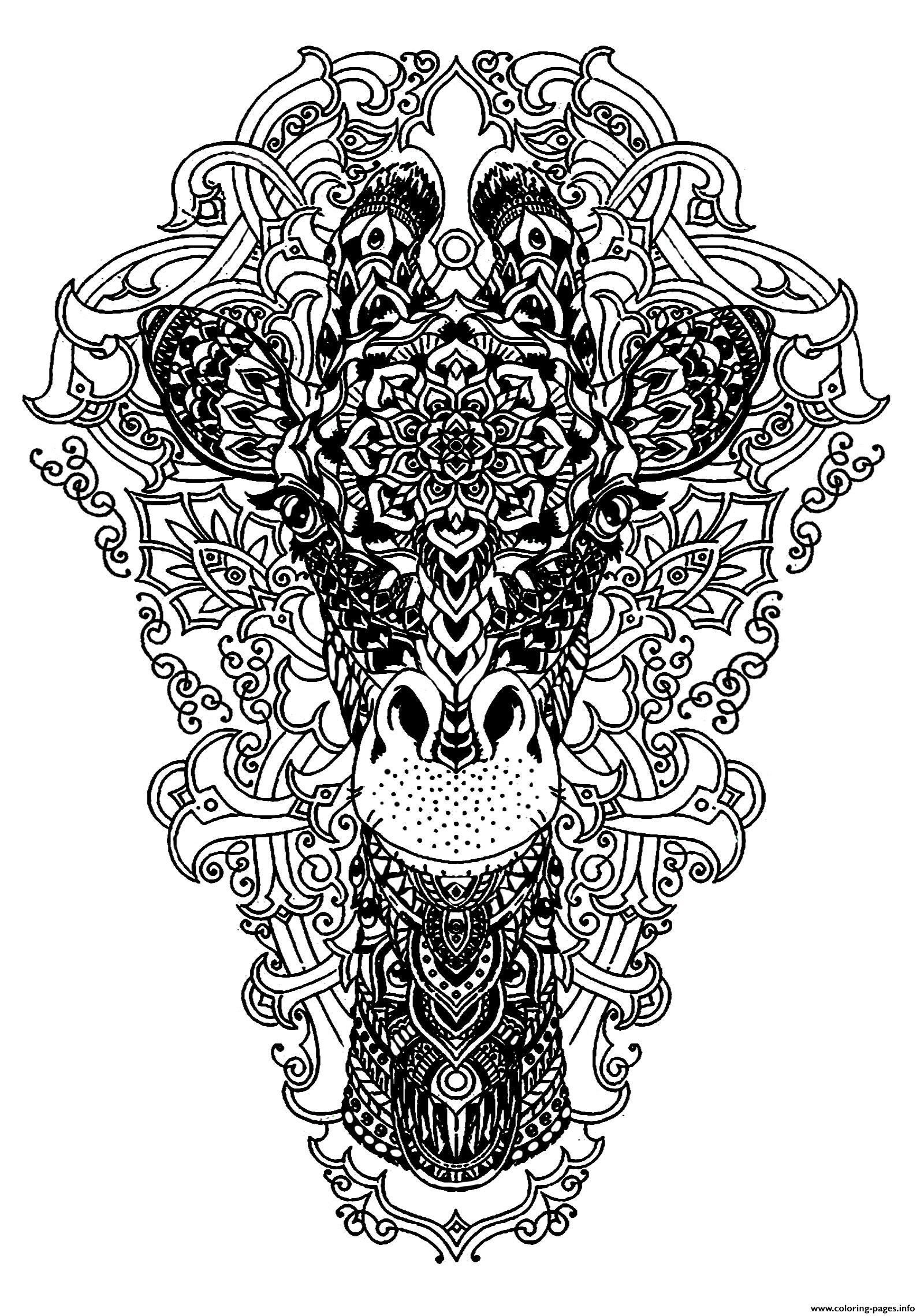 Advanced Animal Head Of A Giraffe