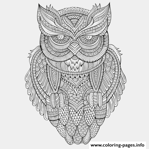 Animals Advanced Owl coloring pages