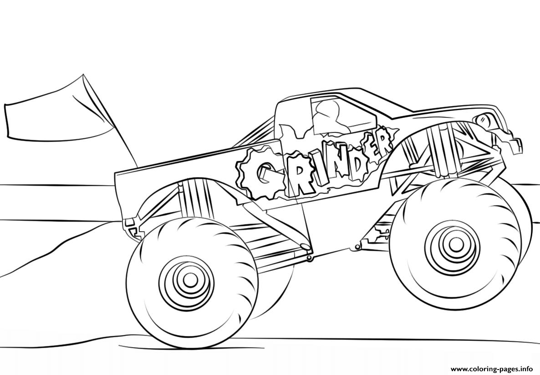 Grinder Monster Truck Coloring