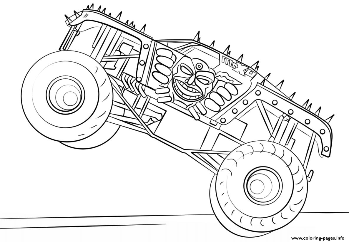 monster truck coloring pages to print - max d monster truck bigfoot coloring pages printable