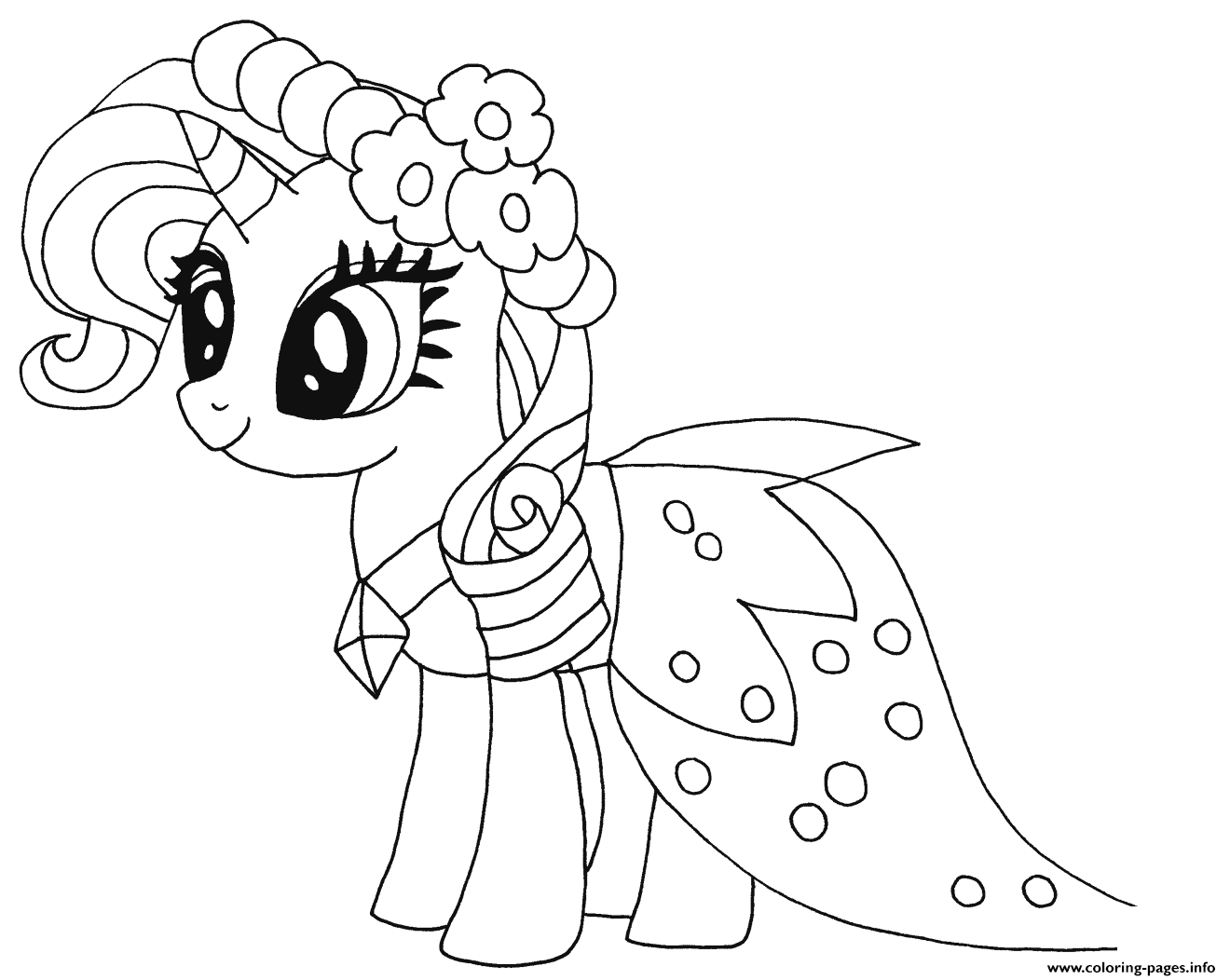 Princess Rarity My Little Pony Coloring Pages Printable