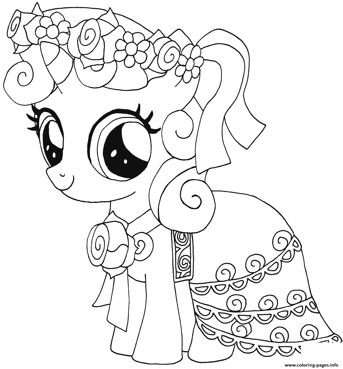Sweetie Belle My Little Pony Coloring