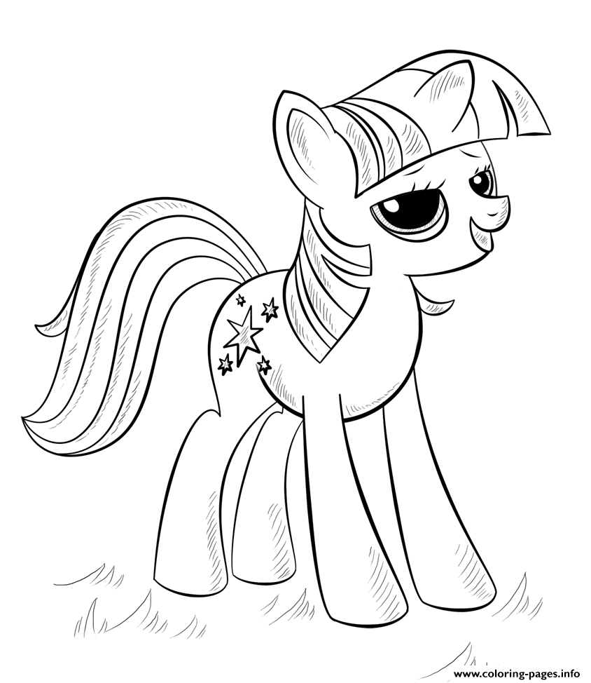 Princess Alicorn My Little Pony Coloring Pages Printable