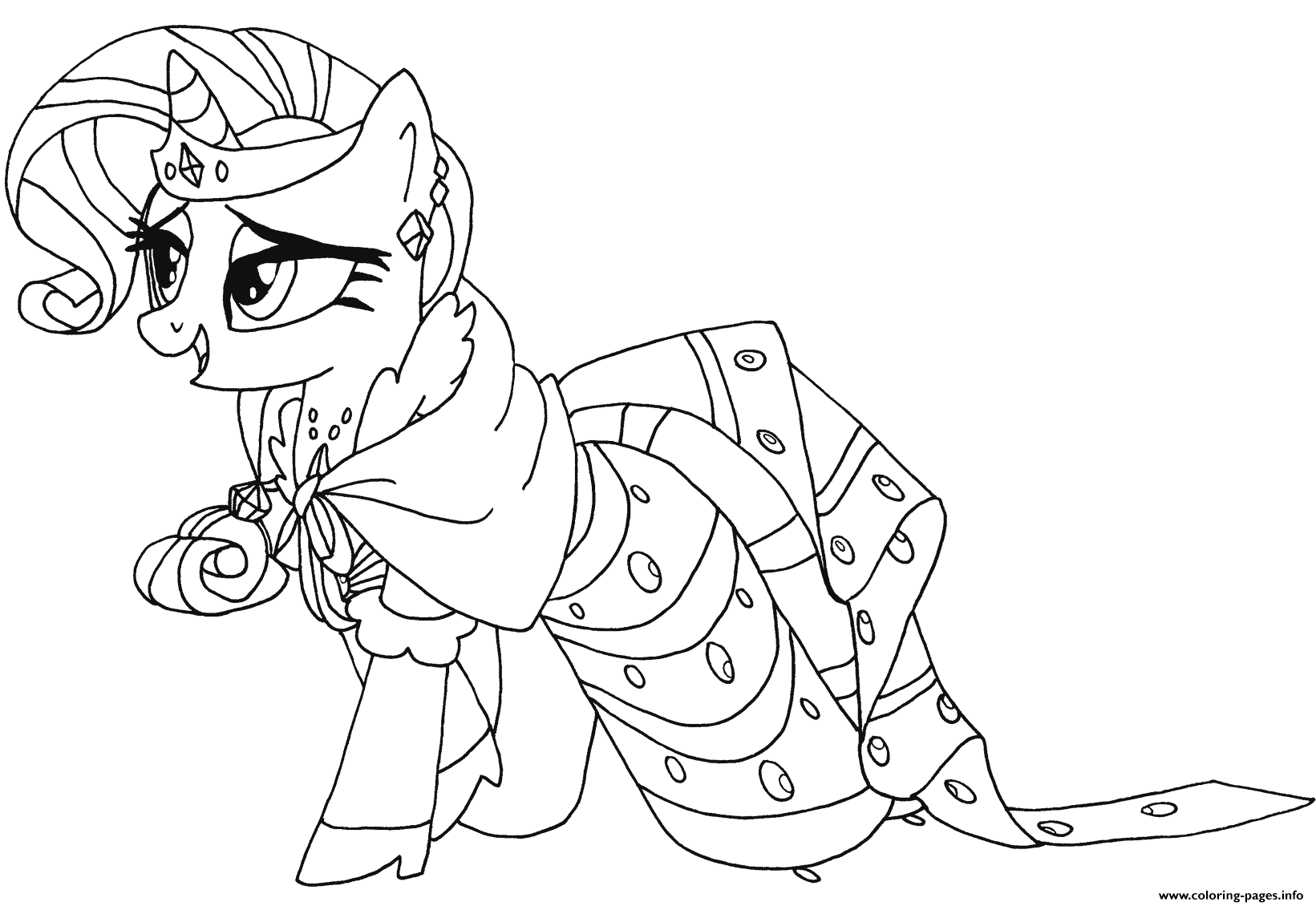 Rarity My Little Pony coloring pages