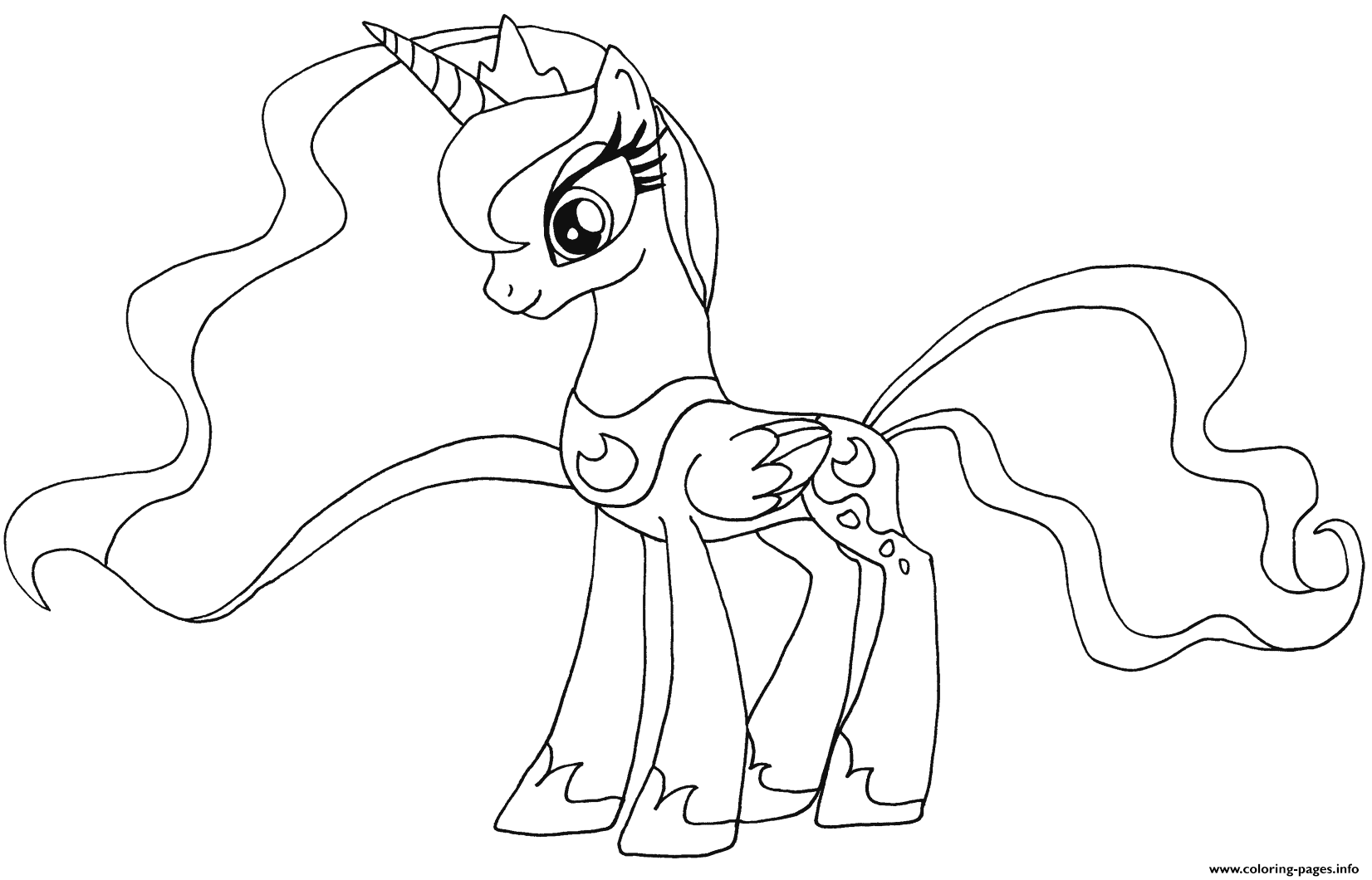 Cute Princess Luna My Little Pony coloring pages