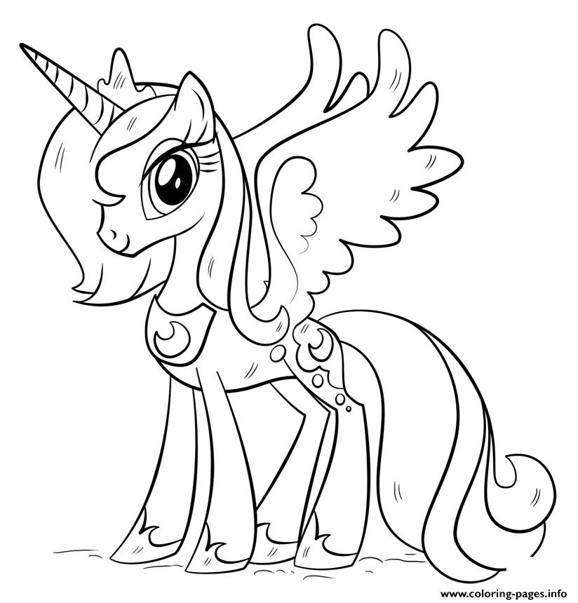 Princess luna my little pony coloring pages printable for Princess pony coloring pages