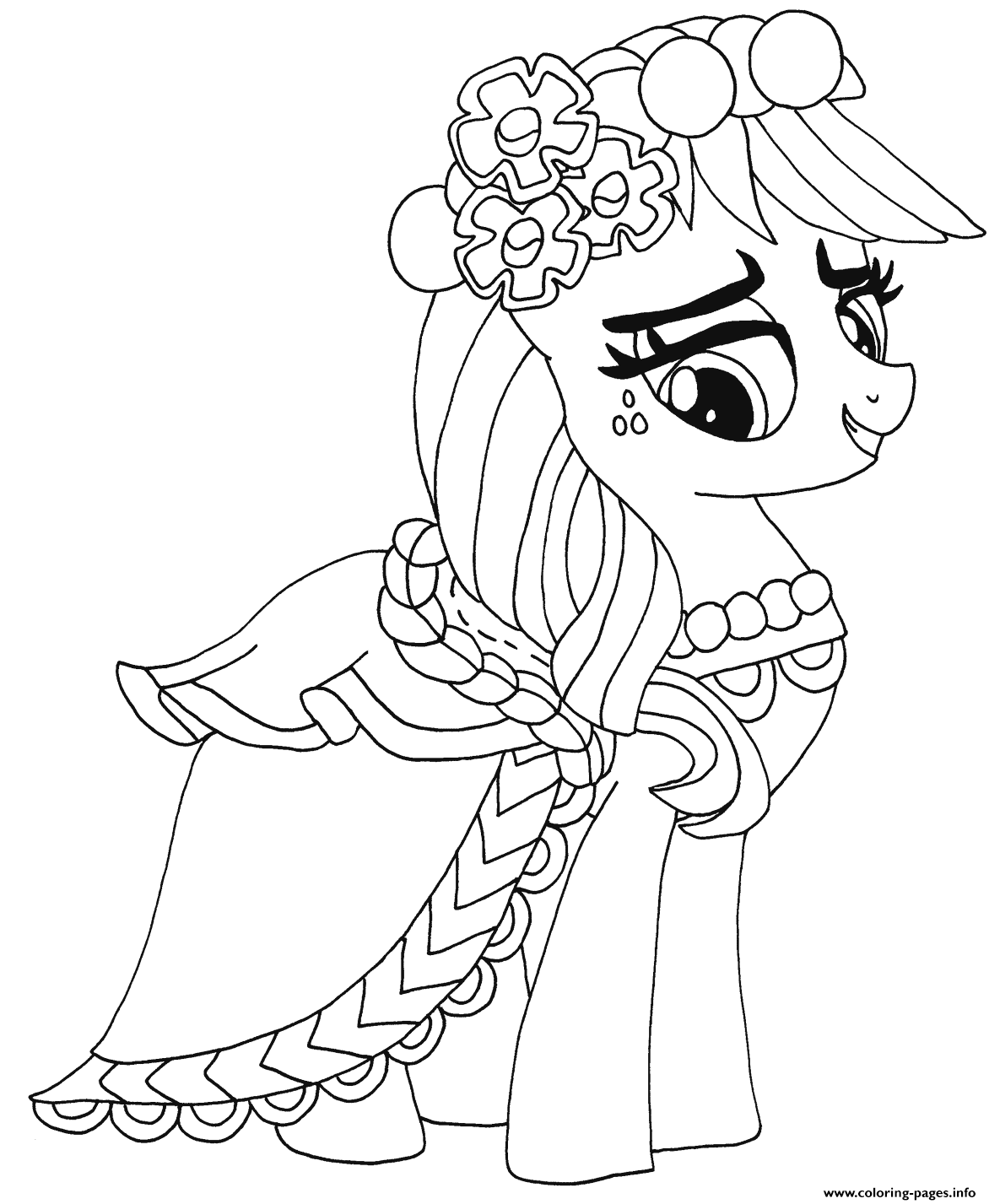 Applejack Applejack My Little Pony Coloring Pages Printable