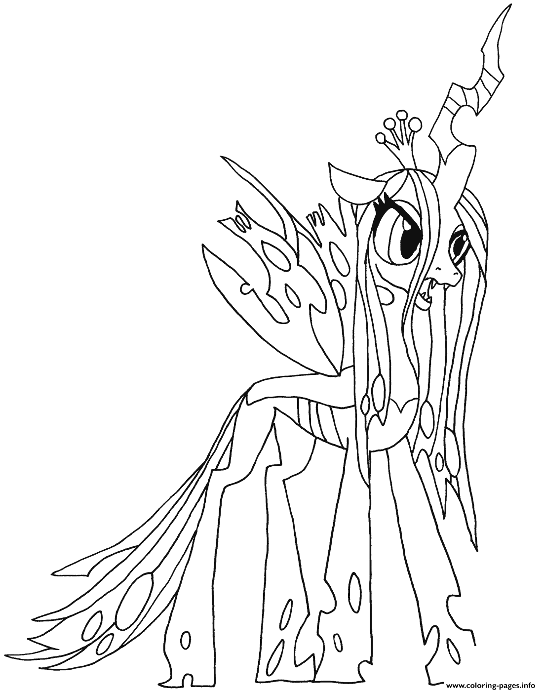 Queen Chrysalis My Little Pony Coloring Pages Printable