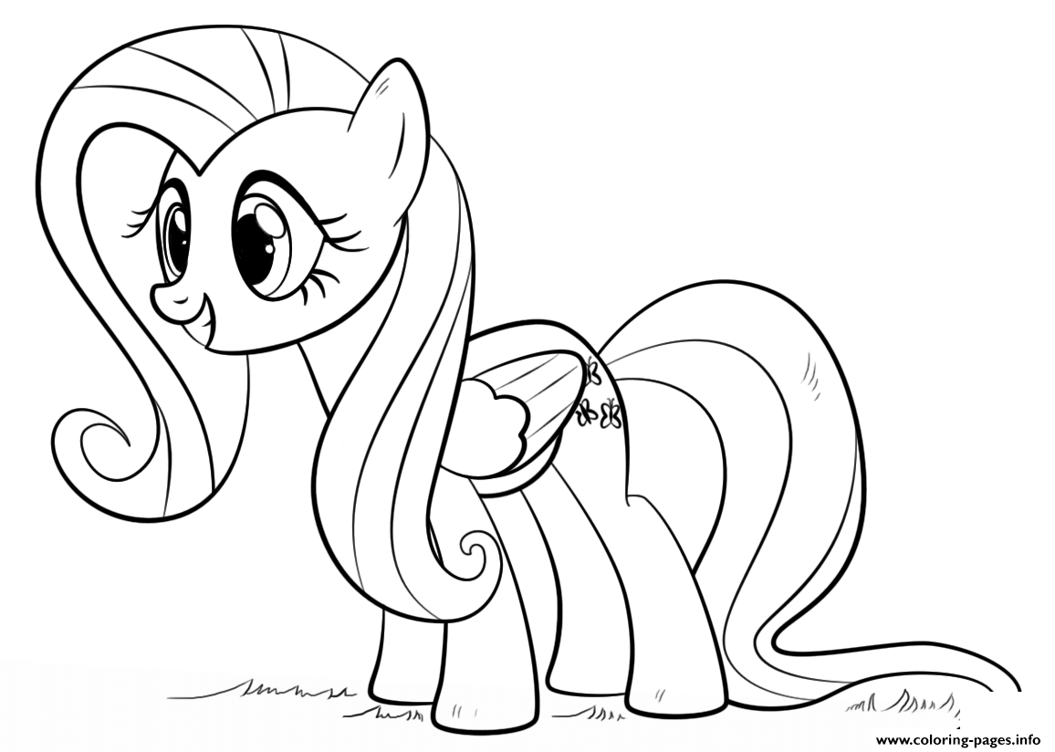 fluttershy pony my little pony coloring pages printable