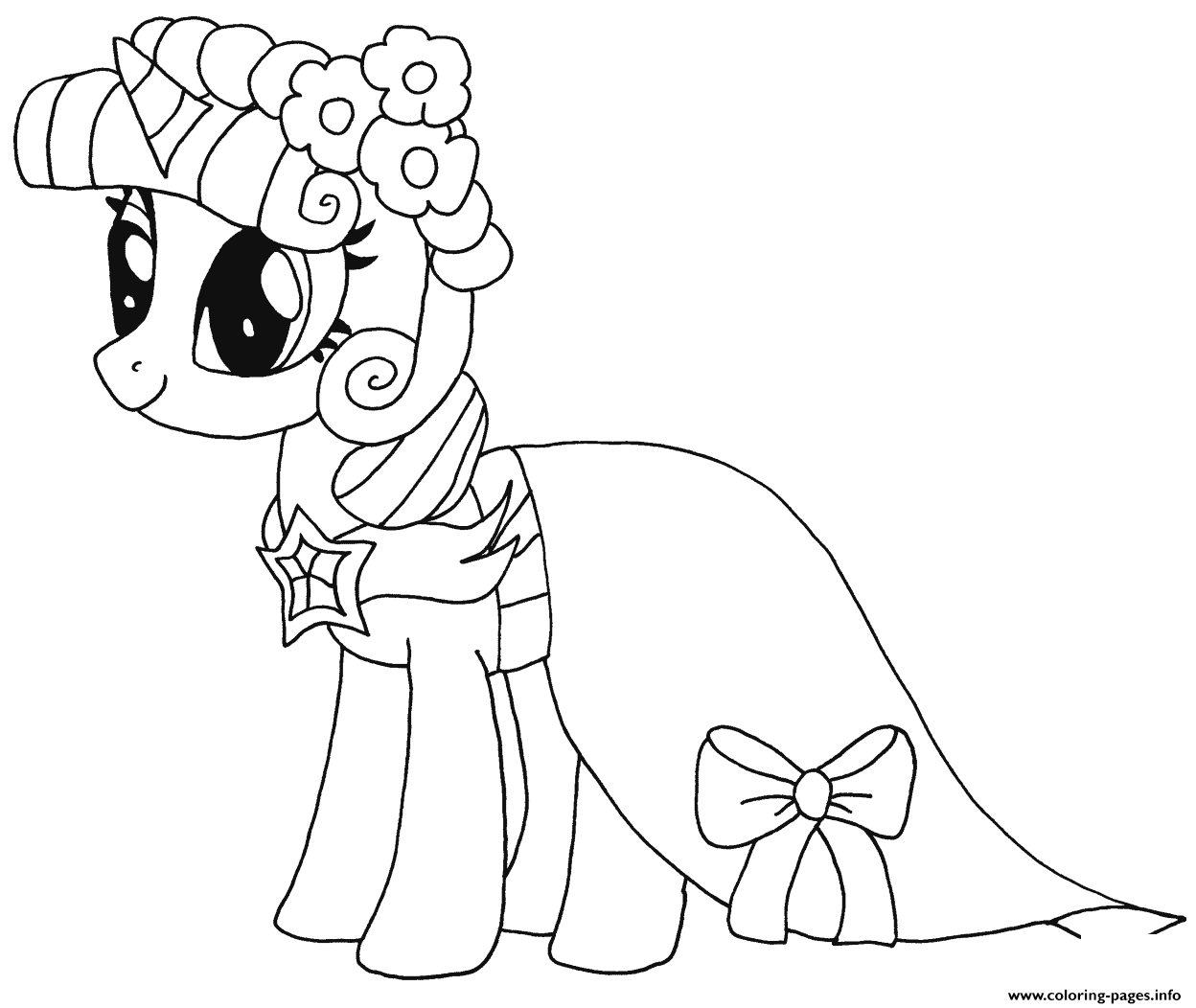 My little pony coloring pages for kids free - Princess Twilight Sparkle My Little Pony Coloring Pages