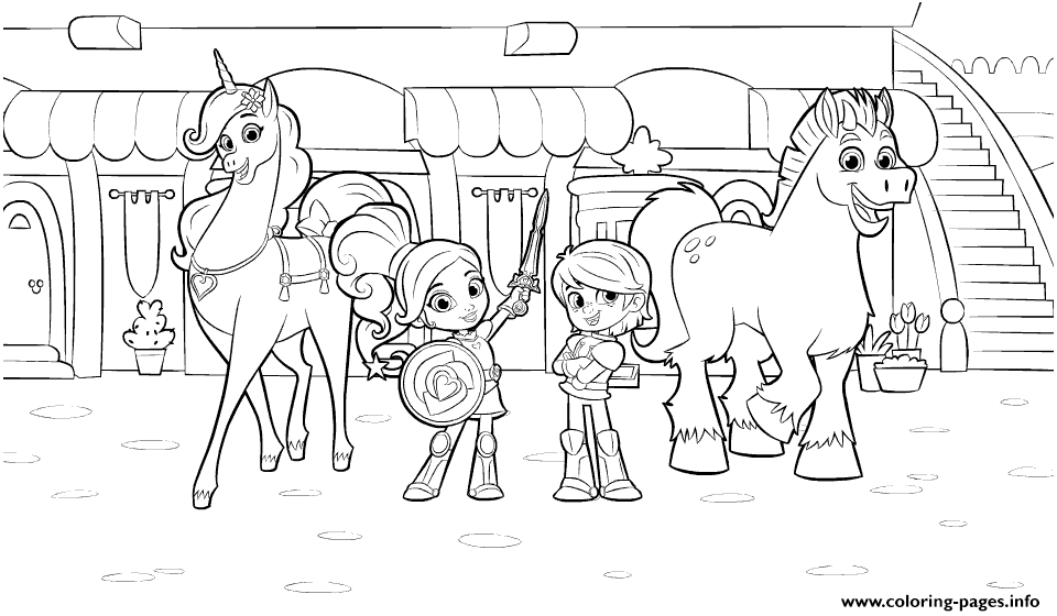 nella the princess knight and friends coloring pages