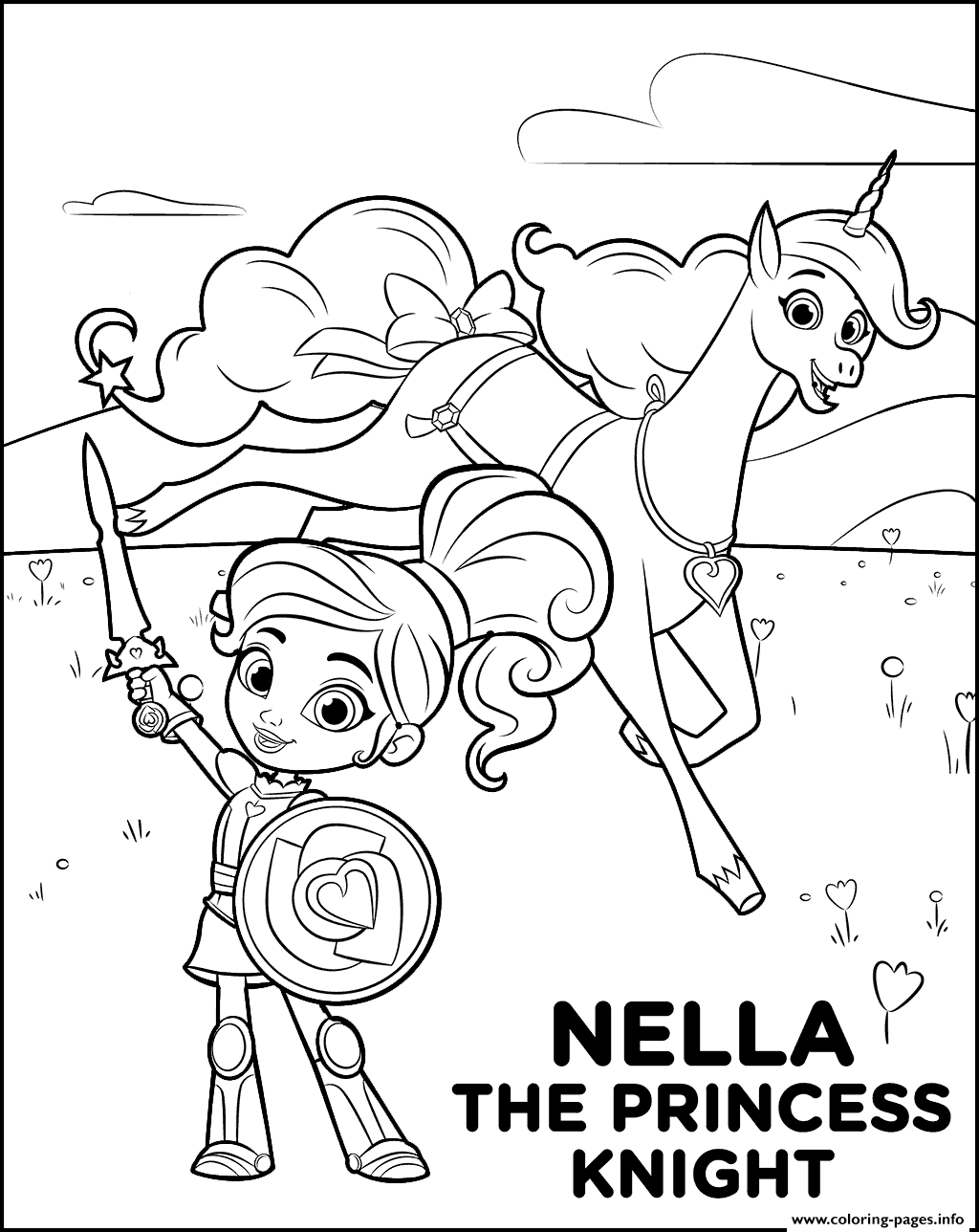 fantasy knights princesses coloring pages - photo#35