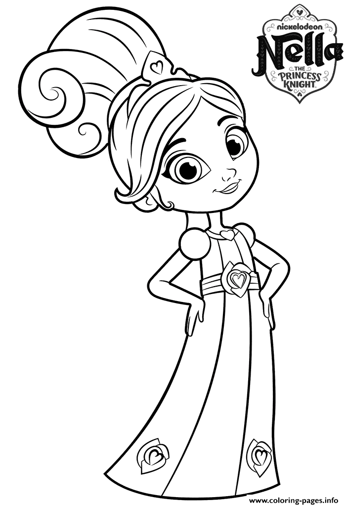 8 Year Old Princess Nella Knight Coloring Pages Printable