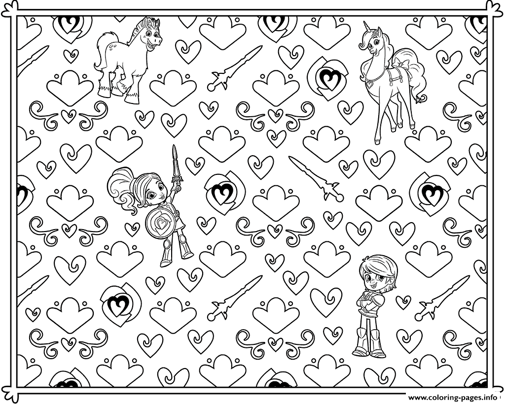 Stress relief coloring pages - Nella Princess Adult Colouring Page To Promote Stress Relief Coloring Pages